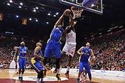 DESCRIZIONE : Milano Euroleague Playoffs EA7 EMPORIO ARMANI OLIMPIA MILANO - MACCABI ELECTRA TEL-AVIV <br /> GIOCATORE : Gani Lawal, Alex Tyus<br /> CATEGORIA : RIMBALZI COMPOSIZIONE&nbsp;<br /> SQUADRA : EA7 EMPORIO ARMANI OLIMPIA MILANO<br /> EVENTO : Campionato Euroleague Playoffs<br /> GARA : EA7 EMPORIO ARMANI OLIMPIA MILANO - MACCABI ELECTRA TEL-AVIV  <br /> DATA : 16/04/14 <br /> SPORT : Pallacanestro <br /> AUTORE : Agenzia Ciamillo-Castoria/L.sonzogni <br /> Galleria : Euroleague Playoffs