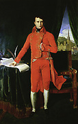 Napoleon I (1769-1821)  as First Consul. Oil on canvas. After the painting by Ingres.