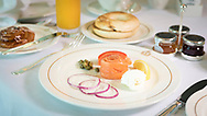 Breakfast in the Britannia Club on board Cunard's Queen Victoria.<br /> Picture date: Sunday June 4, 2017.<br /> Photograph by Christopher Ison &copy;<br /> 07544044177<br /> chris@christopherison.com<br /> www.christopherison.com