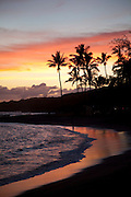 Sunset, Salt Pond Beach Park, Hanapepe, Kauai, Hawaii