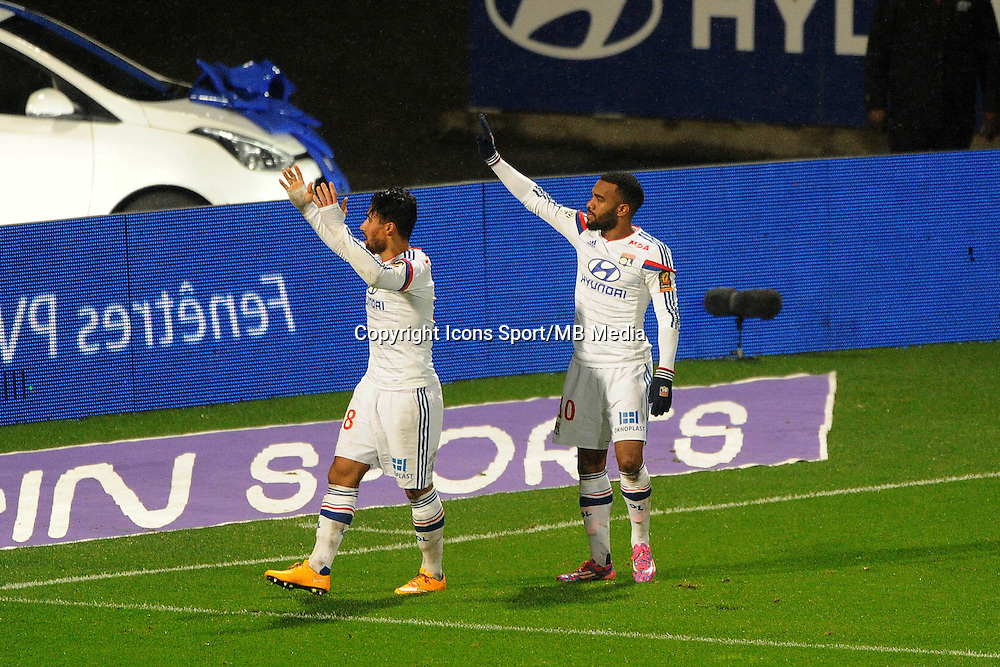 Nabil FEKIR / / Alexandre LACAZETTE - 04.12.2014 - Lyon / Reims - 16eme journee de Ligue 1  <br /> Photo : Jean Paul Thomas / Icon Sport