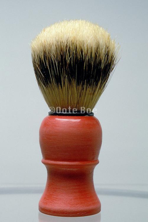 shaving brush with gray background