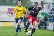 Voetbal Hoornaar Hoofdklasse B 2013-2014 SteDoCo - Staphorst: L-R Rurik wind van Staphorst, Levi Slob van SteDoCo
