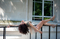 Andrea Pelaez Lyons, modelling for a City Academy Dance Photography Workshop I taught