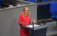 DEU, Deutschland, Germany, Berlin, 11.09.2019: Sonja Amalie Steffen (MdB, SPD) bei einer Rede während einer Plenarsitzung im Deutschen Bundestag.