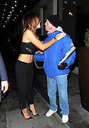 25.JANUARY.2013. LONDON<br /> <br /> MARIA FOWLER AND HER NEW BOYFRIEND JAMES MORGAN ENJOY A NIGHT OUT AT NOBU BERKELEY STREET RESTAURANT IN MAYFAIR. MARIA ALSO SHARED A KISS WITH A BIG ISSUE SELLER, WHICH MADE THE MAN BLUSH AND SMILE.<br /> <br /> BYLINE: EDBIMAGEARCHIVE.CO.UK<br /> <br /> *THIS IMAGE IS STRICTLY FOR UK NEWSPAPERS AND MAGAZINES ONLY*<br /> *FOR WORLD WIDE SALES AND WEB USE PLEASE CONTACT EDBIMAGEARCHIVE - 0208 954 5968*