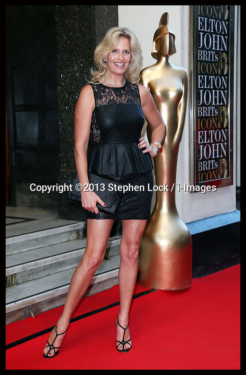 Penny Lancaster arriving at the first BRIT's Icon Award in London, Monday, 2nd September 2013. Picture by Stephen Lock / i-Images