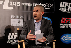 Atlanta, GA - April 18, 2012:  The UFC's Jon Anik during the final press conference for UFC 145 at the Park Tavern in Atlanta, Georgia.  Ed Mulholland for ESPN.com