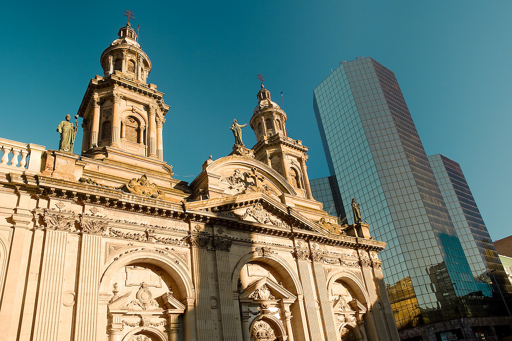 Metropolitan  Cathedral, &ldquo;Plaza de Armas&rdquo; (main square), downtown, Santiago, Chile, South America <br /> <br /> For LICENSING and DOWNLOADING this image follow this link: http://www.masterfile.com/em/search/?keyword=700-03178928&amp;affiliate_id=01242CH84GH28J12OOY4<br /> <br /> For BUYING A PRINT of this image press the ADD TO CART button.<br /> <br /> Download of this image is not available at this site, please follow the link above.