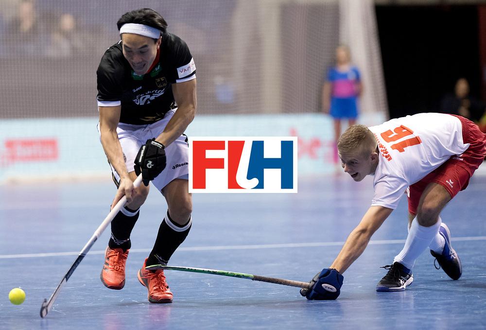 BERLIN - Indoor Hockey World Cup<br /> Men: Poland - Germany<br /> foto: Dan Nguyen and JANICKI Jakub.<br /> WORLDSPORTPICS COPYRIGHT FRANK UIJLENBROEK