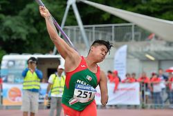 06/08/2017; Gabriel Buenaventura, Eliezer, F46, MEX at 2017 World Para Athletics Junior Championships, Nottwil, Switzerland