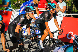Col du Semnoz, France - Tour de France :: Stage 20 - 20th July 2013 - Geraint THOMAS and Peter KENNAUGH (Sky Procycling)