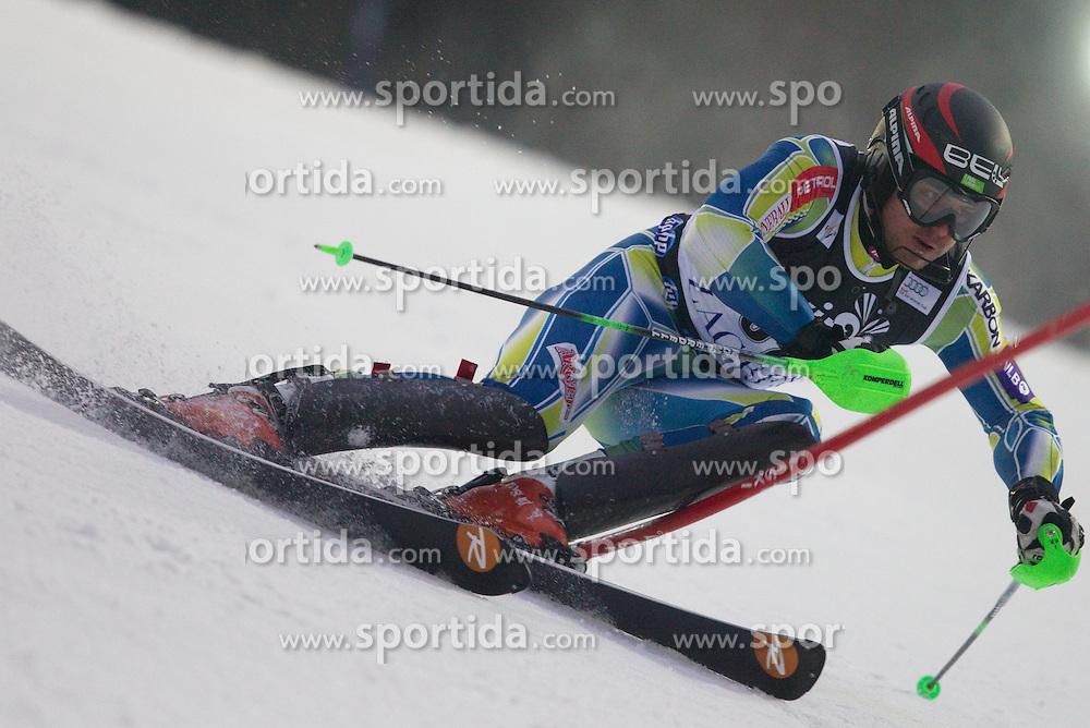 6.1.2011 Sljeme, Zagreb, CRO, Audi FIS World Cup Ski Alpin, Men, Slalom, at Picture DRAGSIC Mitja (SLO)  competes during 1st run; SPORTIDA PHOTO AGENCY © 2011, PhotoCredit: SPORTIDA / Vid Ponikvar