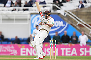 Rikki Clarke of Surrey pulls for four runs during the Specsavers County C'ship Div One match at the Kia Oval, London<br /> Picture by Simon Dael/Focus Images Ltd 07866 555979<br /> 11/05/2018