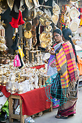KADIRI, INDIA - 03 November 2019 - Women shopping at a market stall in Kadiri, Andhra Pradesh, South India