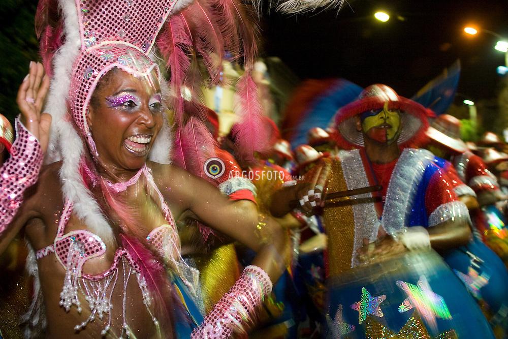 "Montevideu, Uruguai   03/Fevereiro/2006.Candombe Uruguaio/ Carnival in Uruguay.Llamadas, ou Chamadas, no carnaval uruguaio / Llamadas, or ""calls"", during the Carnival in Montevideo.""Llamada"", ou ""Chamada"" , apogeu do carnaval uruguaio, noite do desfile de todas as comparsas de Candombe, heranca da cultura afro no Uruguai. Tem esse nome porque dizem que ""os tambores chamam"". / Candombe is performed regularly in the streets of Montevideo's central neighbourhoods. During Uruguay's Carnival period, all the comparsas, participate in a massive Carnival parade called Las Llamadas (""calls""). Candombe is a drum-based musical style of Uruguay."