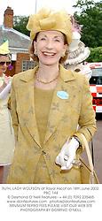 RUTH, LADY WOLFSON at Royal Ascot on 18th June 2002.PBC 144