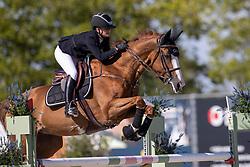 Adam Constance, BEL, Decibelle du Seigneur<br /> Belgisch Kampioenschap Jeugd Azelhof - Lier 2020<br /> © Hippo Foto - Dirk Caremans<br /> 30/07/2020