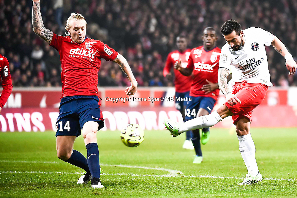 Ezequiel LAVEZZI - 03.12.2014 - Lille / Paris Saint Germain - 16eme journee de Ligue 1 -<br />