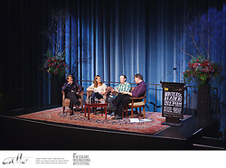 Emerging New Zealand writers Ellie Catton, Hamish Clayton and Craig Cliff talk with Harry Ricketts at Writers & Readers Week, as part of the New Zealand International Arts Festival.
