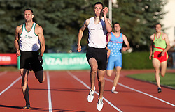 Joze Vrtacic, Sebastjan Jagarinec, Jost Kozan and Luka Novak  at Athletic National Championship of Slovenia, on July 19, 2008, in Stadium Poljane, Maribor, Slovenia. (Photo by Vid Ponikvar / Sportal Images).