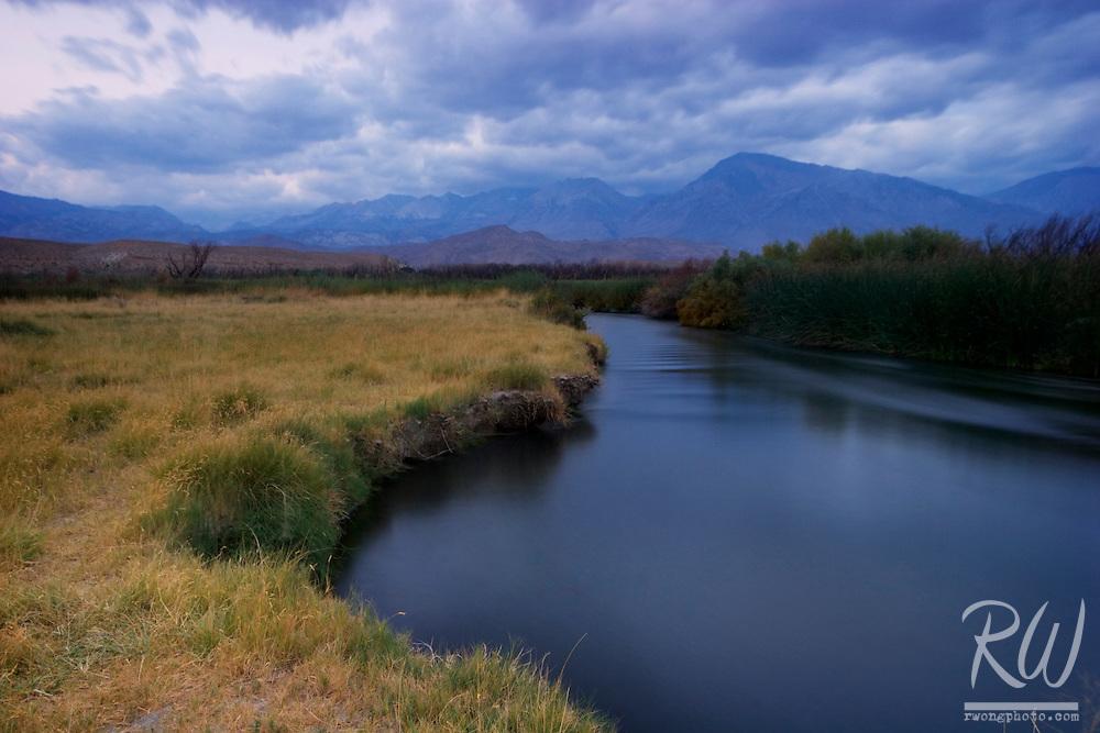 Owens River at Dawn, Inyo County, California