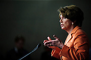House Minority Leader NANCY PELOSI (D-CA) holds her weekly press conference on Capitol Hill on Thursday. Pelosi is angry about the House of Representatives recent 2-day work weeks as they prepare to adjourn until next week.