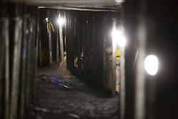 October 3, 2017 - Sao Paulo, Brazil - Brazilian police discovered a 500-meter-long tunnel that would link a residence to a Banco do Brasil branch in the south of Sao Paulo. .Inside the house was found large amount of food, tools and clothes used in the excavation of the tunnel..Before they could get into the bank, the 16 thieves were arrested and according to police the gang's goal was to reach the bank's safe and steal 1 billion reais (about 318 million dollars), which would be considered the biggest robbery of the history of Brazil. (Credit Image: © Paulo Lopes via ZUMA Wire)
