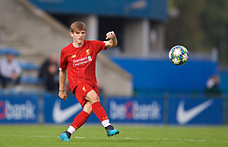 GENK, BELGIUM - Wednesday, October 23, 2019: Liverpool's Leighton Clarkson during the UEFA Youth League Group E match between KRC Genk Under-19's and Liverpool FC Under-19's at the KRC Genk Arena Stadium B. (Pic by David Rawcliffe/Propaganda)