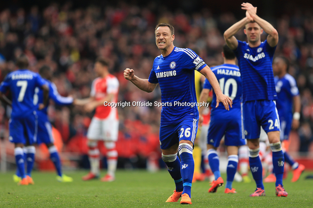 26 April 2015 - Barclays Premier League - Arsenal v Chelsea - John Terry of Chelsea celebrates - Photo: Marc Atkins / Offside.