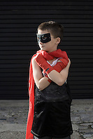 Boy wearing Zorro costume