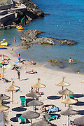 The beach at Cala de Sant Vicenc?.