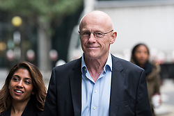 © Licensed to London News Pictures. 23/10/2017. London, UK. Phones 4u billionaire founder John Caudwell arrives at the High Court in London where he is accused of forcing three woman out of jobs at his company. Nathalie Dauriac-Stoebe, Tracy Gehlan and Suzette Burger all claim they were unfairly treated while working for Mr Caudwell . Photo credit: Ben Cawthra/LNP