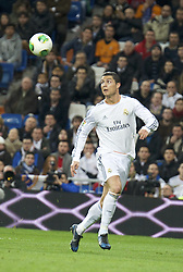 Jan. 9, 2014 - Madrid, Spain - Cristiano Ronaldo during the Copa del Rey, round of 8 match between Real Madrid and Osasuna at Estadio Santiago Bernabeu on January 9, 2014 in Madrid, Spain. (Credit Image: © Jack Abuin/ZUMAPRESS.com)