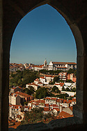 Portugal village through a window