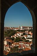 Portugal village through a window