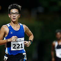 Chong Jun Hao of Ngee Ann Polytechnic in action during the men's 10000m event. (Photo &copy; Lim Yong Teck/Red Sports) The 2018 Institute-Varsity-Polytechnic Track and Field Championships were held over three days in January.<br />