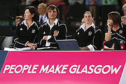 Head Coach Waimarama Taumaunu of New Zealand looks on from the bench during the Netball Final between New Zealand and Australia. Glasgow 2014 Commonwealth Games. Netball Final, Silver Ferns v Diamonds, The Hydro, Glasgow, Scotland. Sunday 3 August 2014. Photo: Anthony Au-Yeung / photosport.co.nz