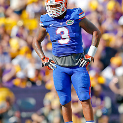 Oct 12, 2013; Baton Rouge, LA, USA; Florida Gators linebacker Antonio Morrison (3) against the LSU Tigers during the first half of a game at Tiger Stadium. Mandatory Credit: Derick E. Hingle-USA TODAY Sports