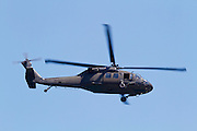 A U.S. army Sikorsky UH-60 Blackhawk helicopter
