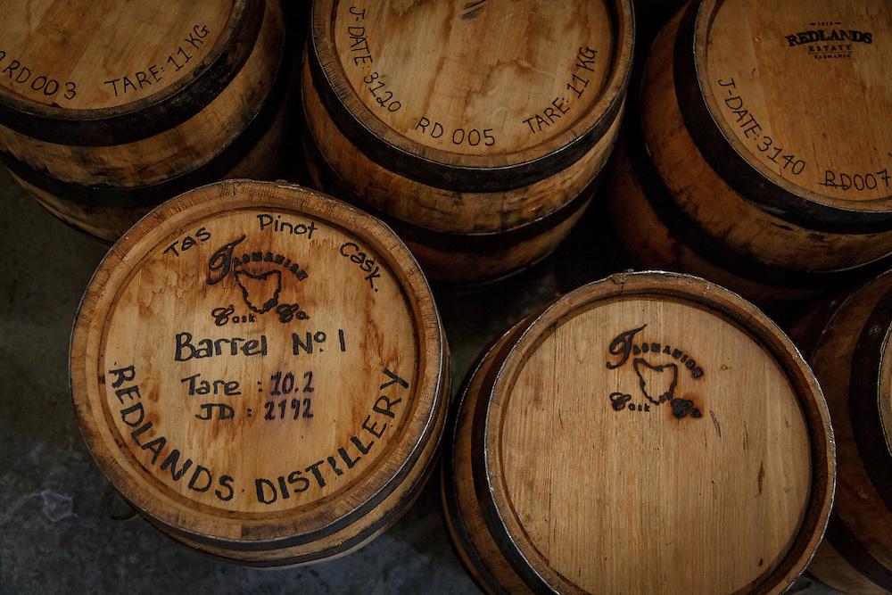 Barrel No. 1 at Redlands Estate Distillery in Plenty, Tasmania, August 25, 2015. Gary He/DRAMBOX MEDIA LIBRARY