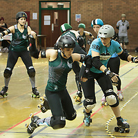 2014-11-22 Manchester Roller Derby's Checkerbroads vs Brighton Rockers Roller Derby
