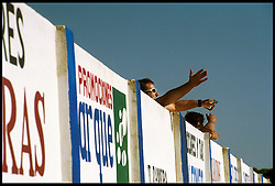 Andalucia, Spain<br /> A man is looking the football match.<br /> &copy;Carmen Secanella.