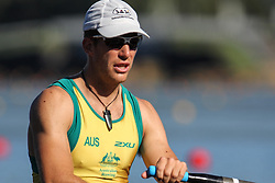 Australian Rowing Olympic Trials, March 2012, Sydney International Rowing Centre - Chris Morgan in the Mens Quad Scull