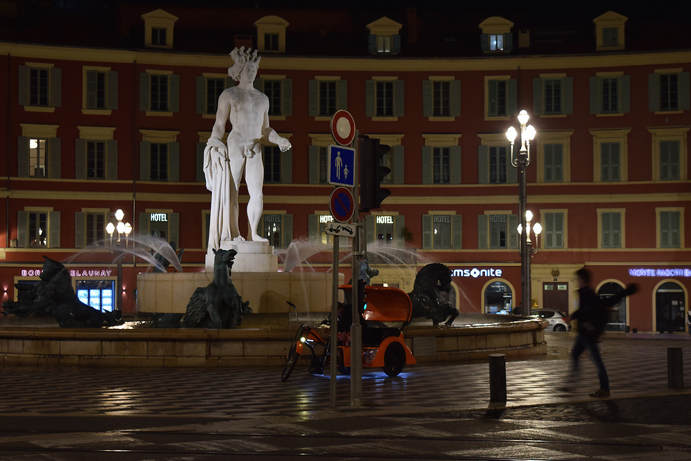 Place Massena at Night