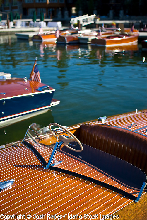 Idaho, McCall.  The wooden boat show happens each summer on beautiful Payette Lake.