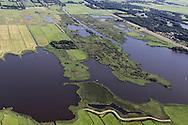 Grutte Wielen (Grote Wielen) - natuurgebied. Midden op de foto is de Kobbekoai (eendenkooi) te zien.<br /> De Groningerstraatweg (N355) scheidt het Grutte Wielen-gebied van het natuur- en recreatiegebied De Groene Ster met daarin de Lytse Wielen (Kleine Wielen).