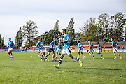Forest Green Rovers players warm up ahead of the match during the Vanarama National League match between Braintree Town and Forest Green Rovers at the Amlin Stadium, Braintree, United Kingdom on 24 September 2016. Photo by Shane Healey.