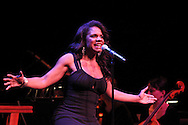 Audra McDonald performs with the Dayton Philharmonic Orchestra conducted for her show by Brian Hertz during the 10th Anniversary Concert at the Schuster Center in downtown Dayton, Friday, March 1, 2013.