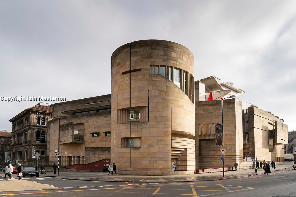 Exterior of National Museum of Scotland, Edinburgh, Scotland, UK